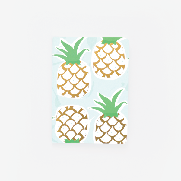 Mint Pineapple, Mini Notebook