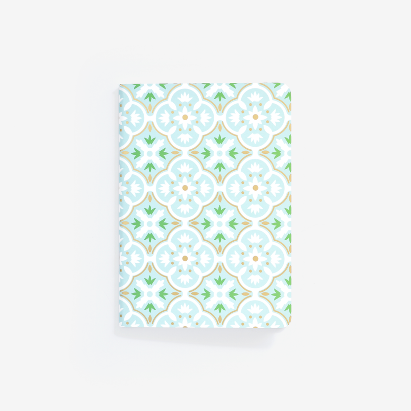 Mint Tile Mini Notebook