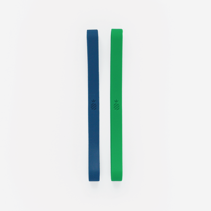Weekly Stretchy Band Set - Navy & Green