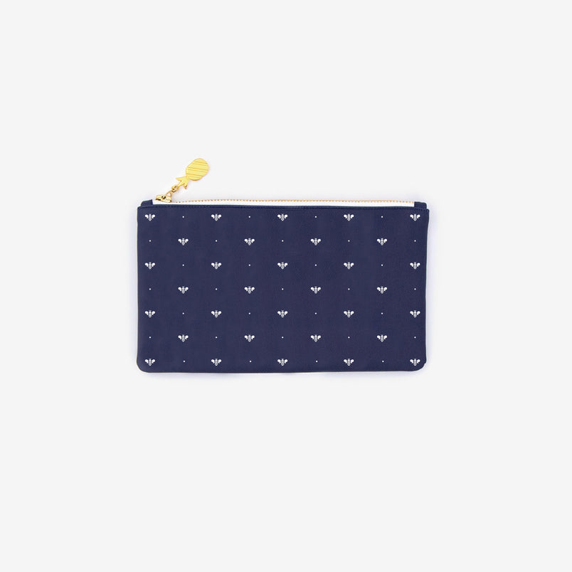 Pencil Pouch Navy Bee