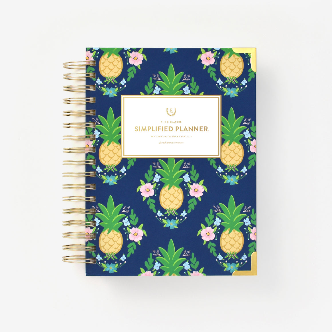 featured: PINEAPPLE CREST DAILY PLANNER COVER