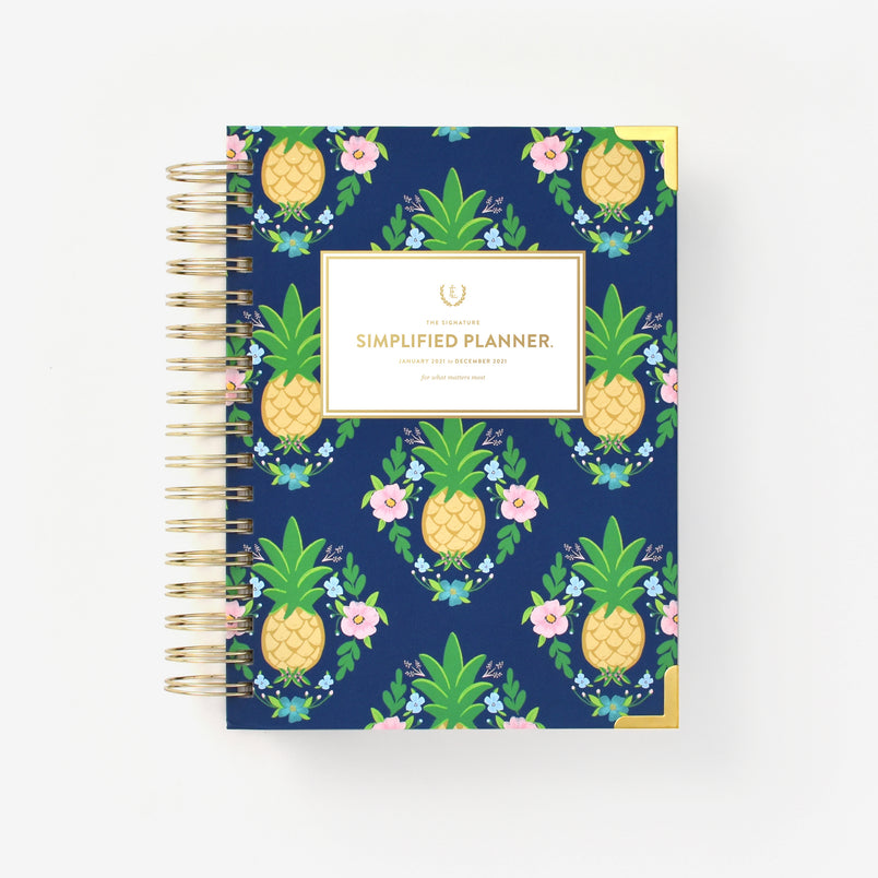 Pineapple Crest 2021 Daily Simplified Planner