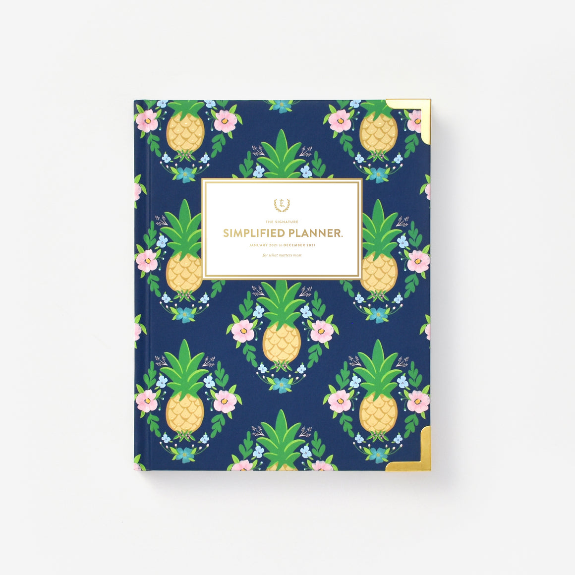 featured: PINEAPPLE CREST WEEKLY PLANNER COVER