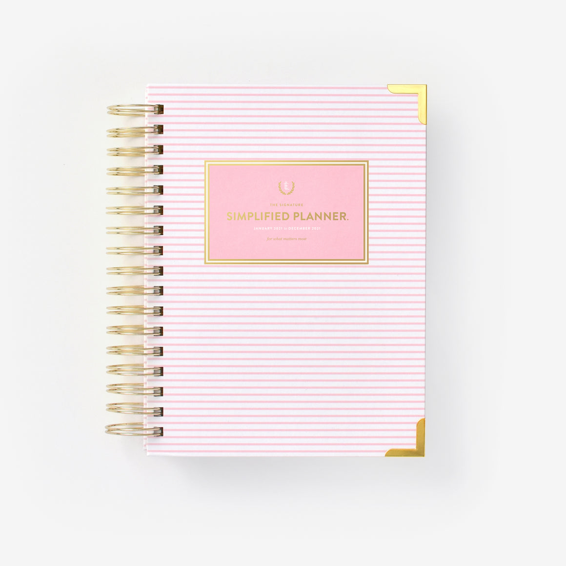 featured: PINK PINSTRIPE DAILY PLANNER COVER