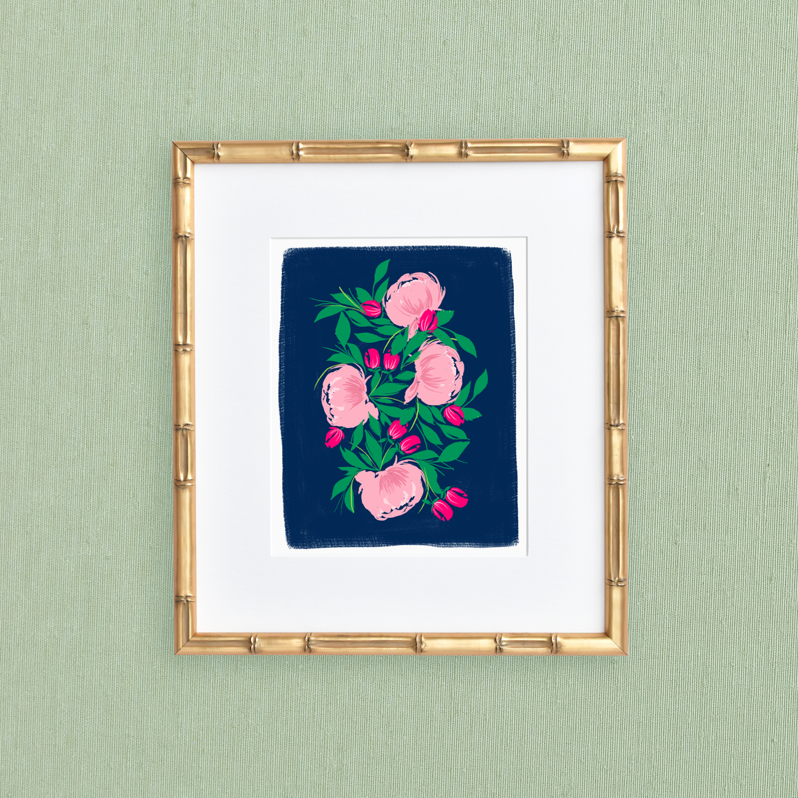 featured: Pink Peonies Art Print IN FRAME