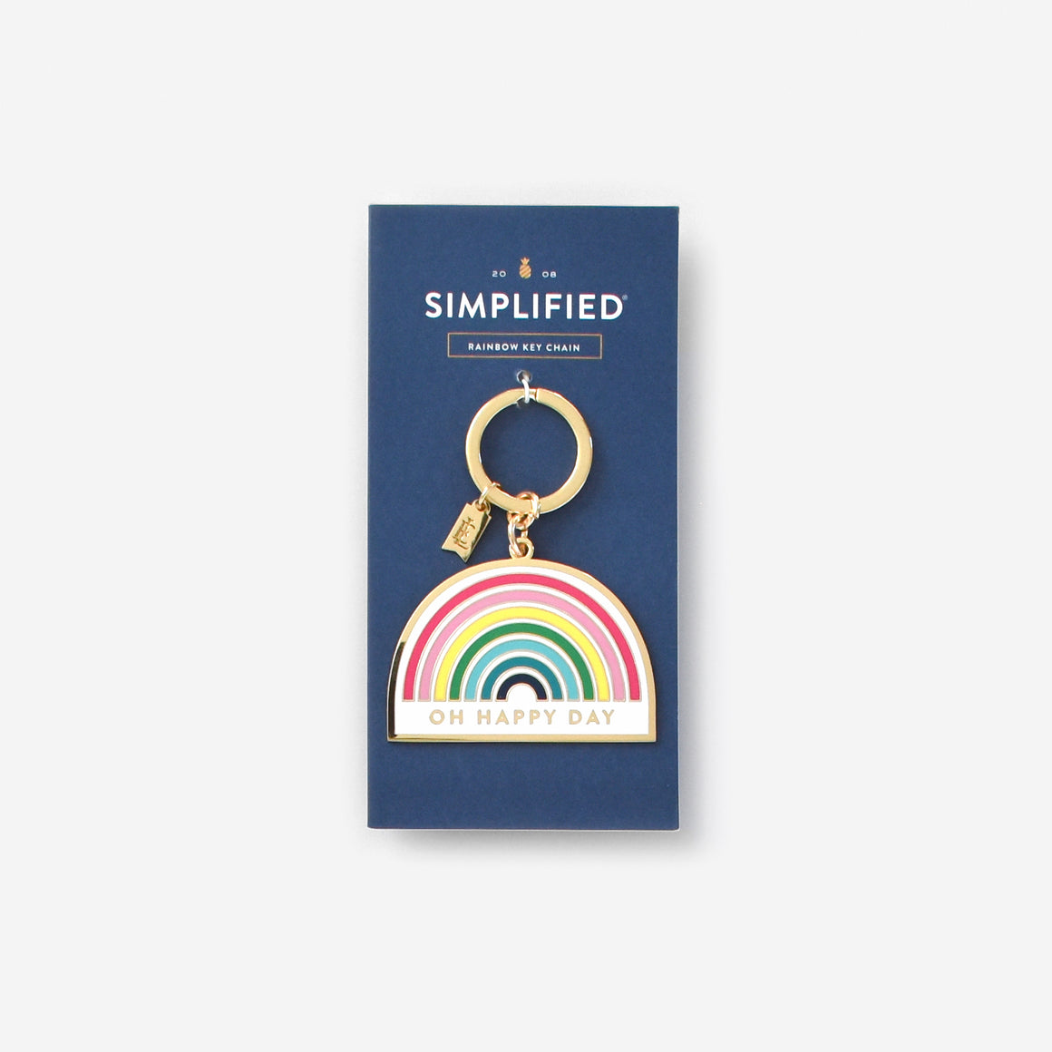 Rainbow, Enamel Key Chain