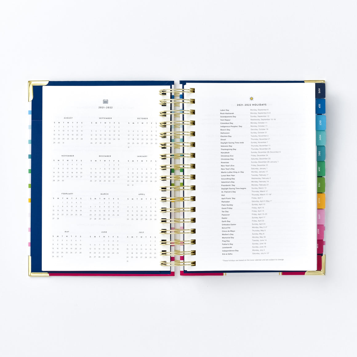 YEARLY CALENDAR & HOLIDAYS LIST
