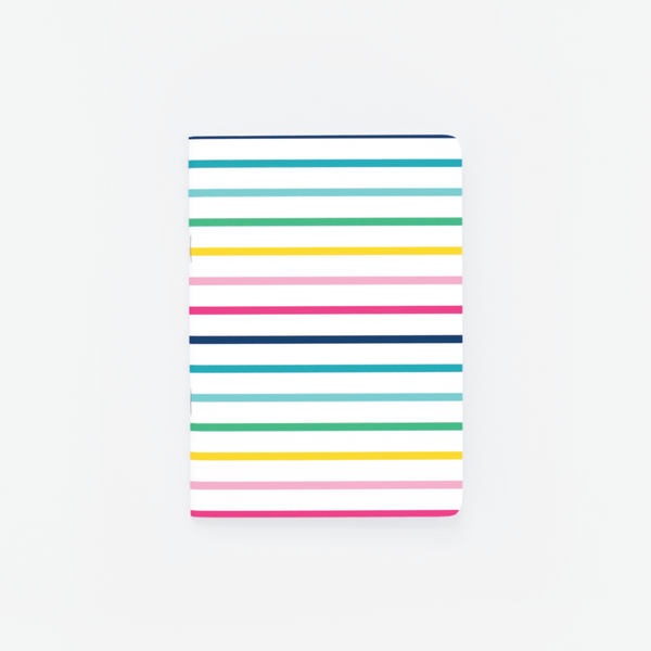 Thin Happy Stripe, Mini Notebook