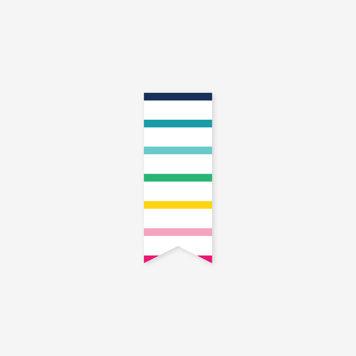 featured: Thin Happy Stripe Page Marker
