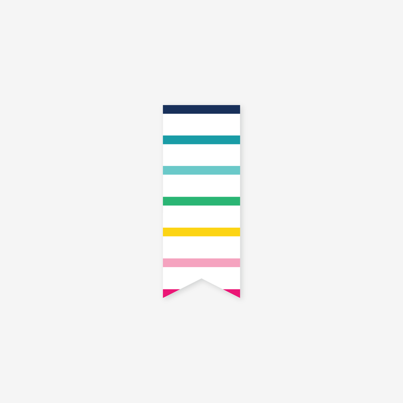 Thin Happy Stripe Page Marker