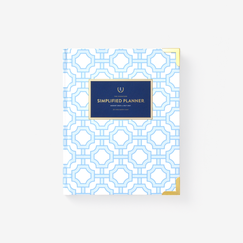 Blue Trellis 2020-2021 Weekly Simplified Planner