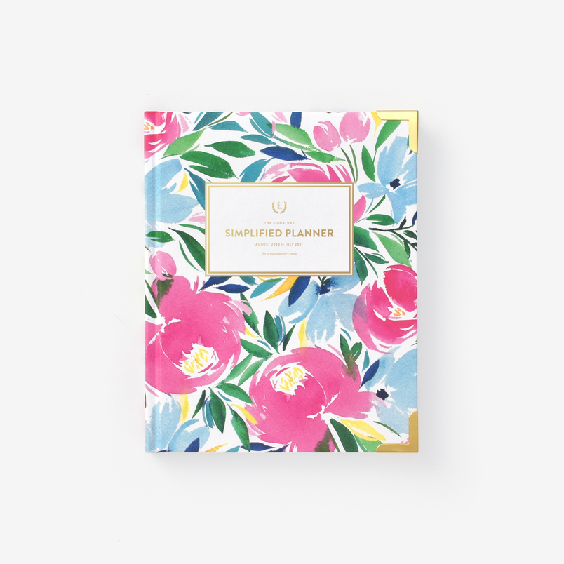 Happy Floral 2020-2021 Weekly Simplified Planner