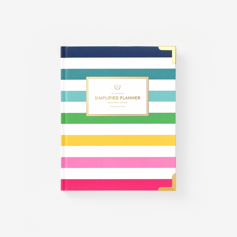 Happy Stripe 2020-2021 Weekly Simplified Planner