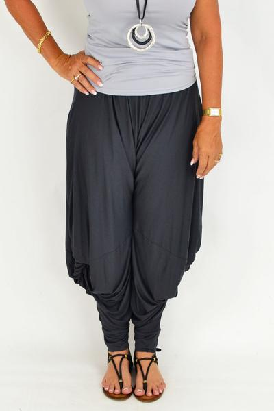charcoal relaxed pants