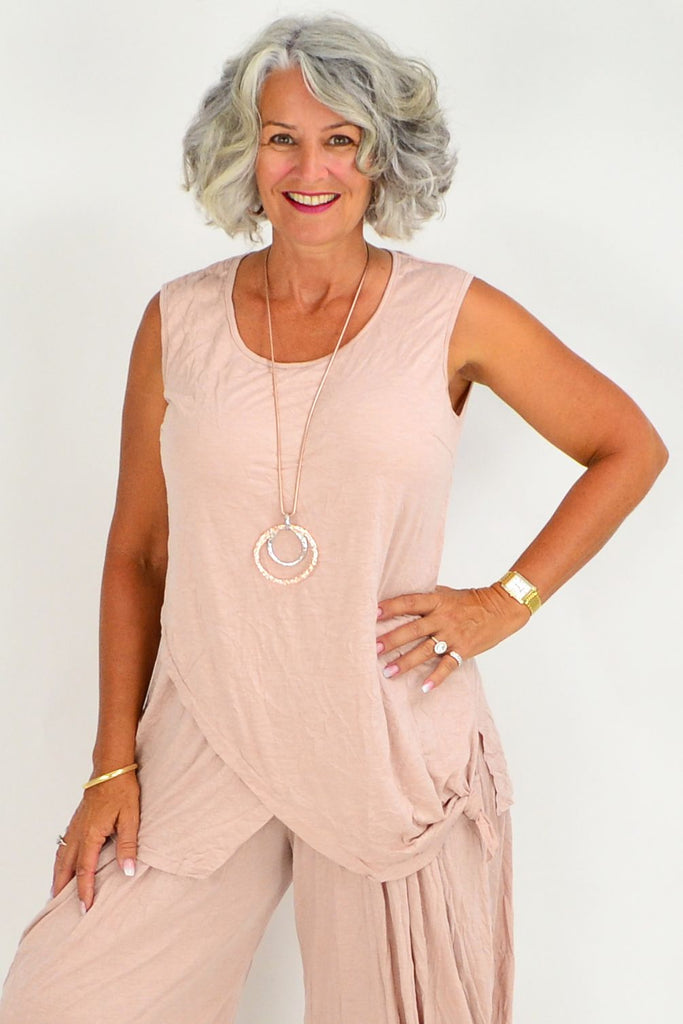 Julie Pink Blush Cotton Tunic
