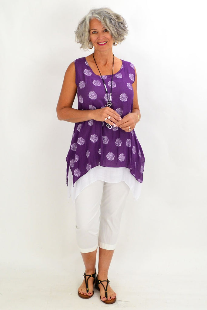 Purple Spot Overlay Tunic