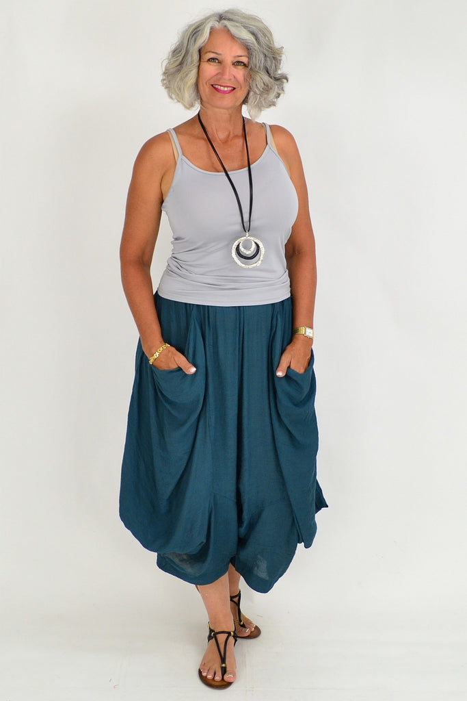 Blue meditation pants