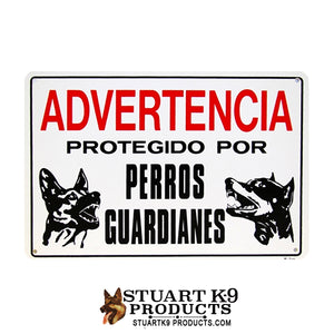 Advertencia Protegido Por Perros Guardiances | Shepherd / Doberman Head