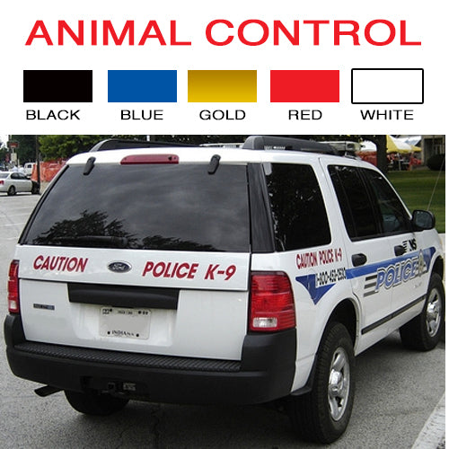 Animal Control Vinyl Vehicle Decal