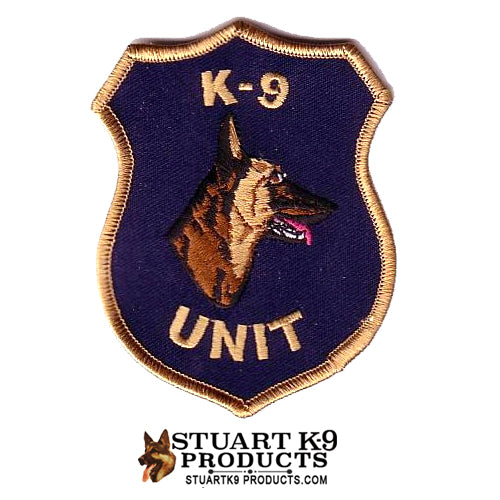 K-9 Unit Malinois Head Patch | Right Facing