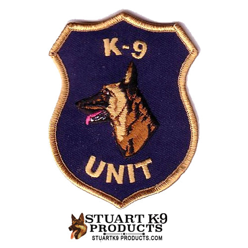 K-9 Unit Malinois Head Patch | Left Facing #2