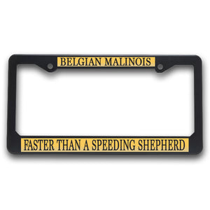K9 License Plate Frame| Belgian Malinois
