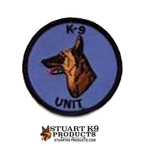 K-9 Unit Belgian Malinois Round Head Patch Blue/Black |Left Facing