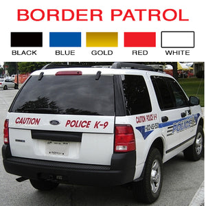 Border Control Vinyl Vehicle Decal