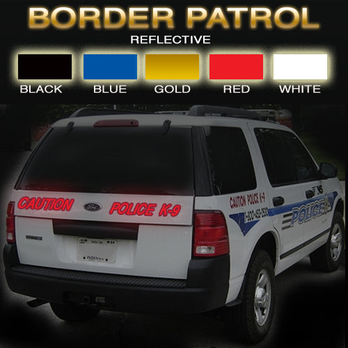 Border Control Reflective Vinyl Vehicle Decal