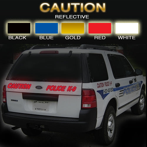 CAUTION | Reflective Vinyl Vehicle Decal