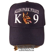 Load image into Gallery viewer, K9 CUSTOM Text Embroidered Ball Cap