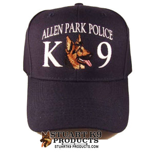 K9 CUSTOM Text Embroidered Ball Cap