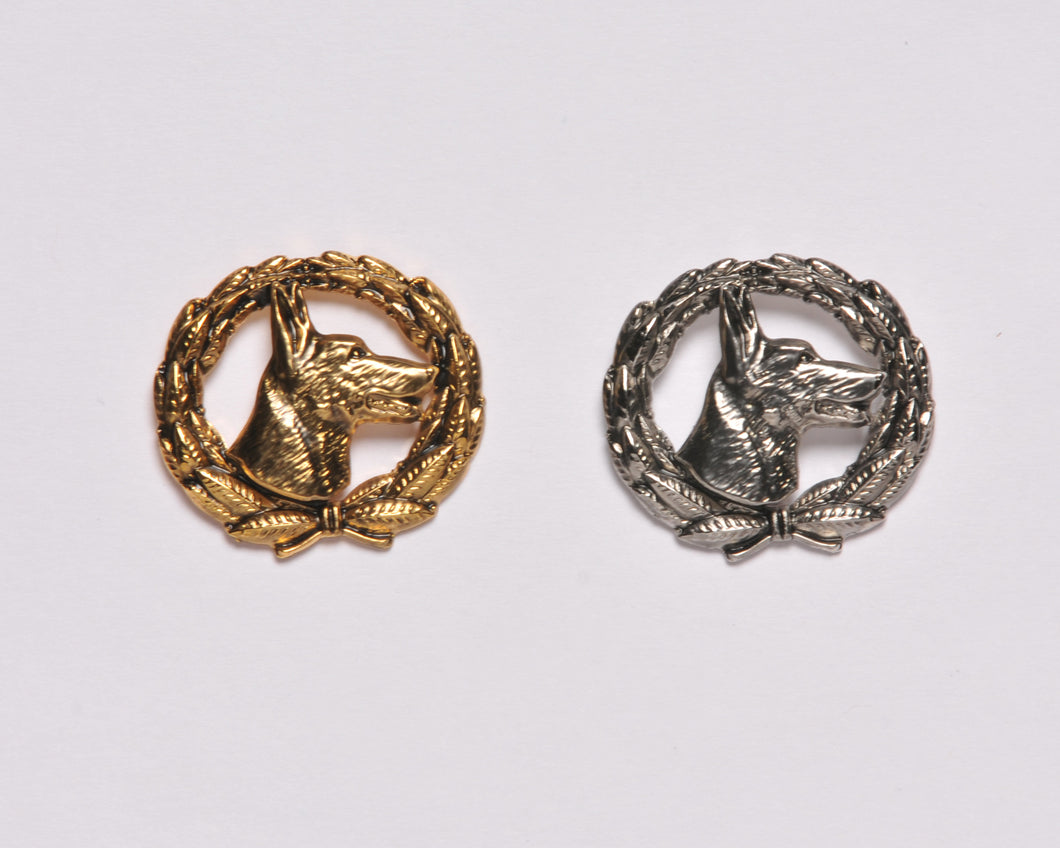 Belgian Malinois Wreath Pin