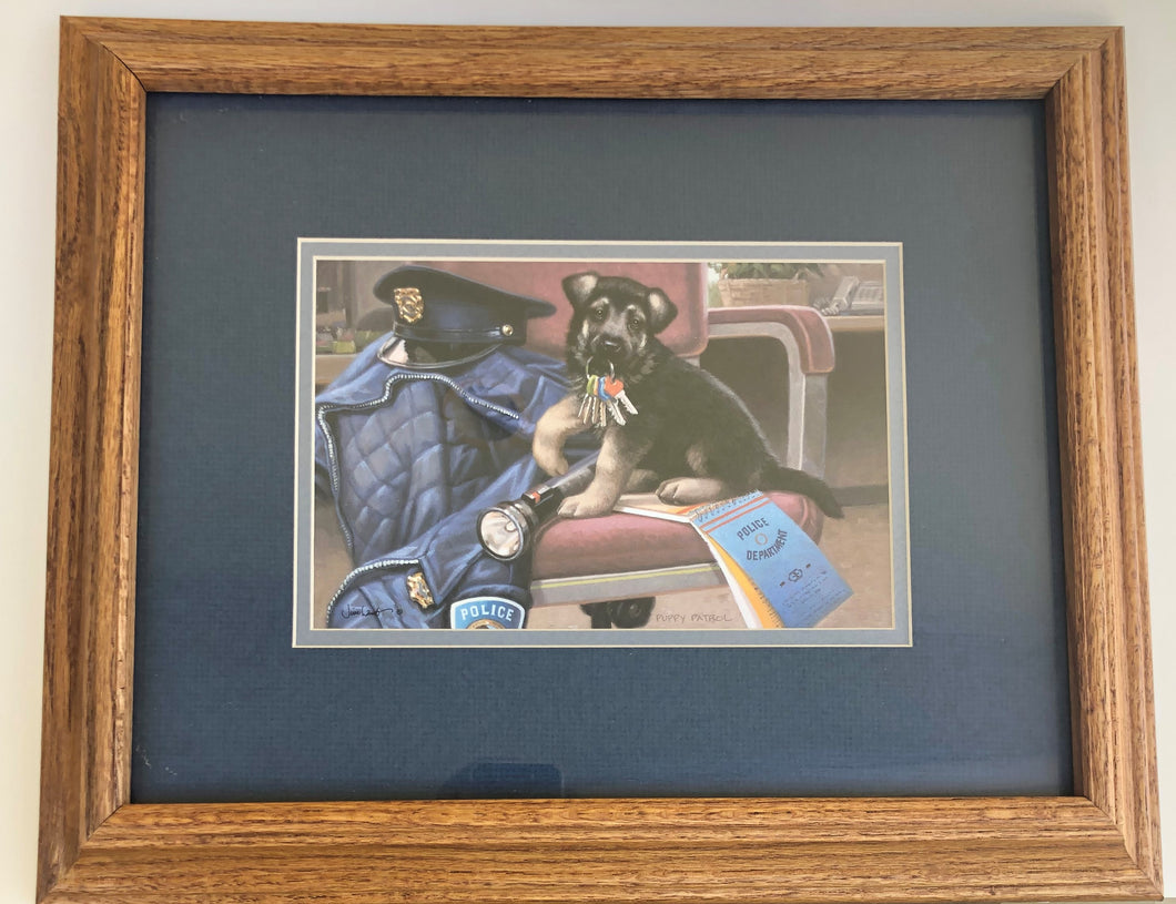 PE88820 Shepherd Puppy Shadow Box