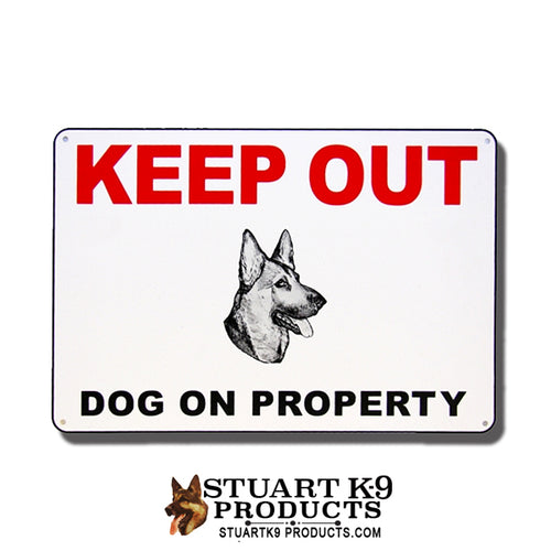 Keep Out | Dog on Property -Shepherd Head