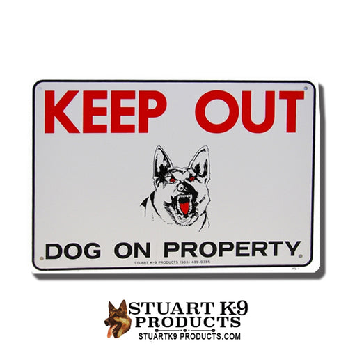 Keep Out | Dog on Property -Shepherd Head (Agressive)