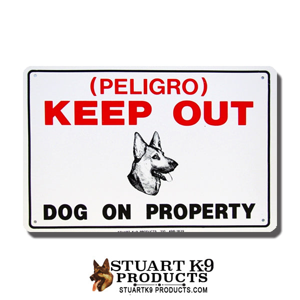 German Shepherd Keep Out Fence sign