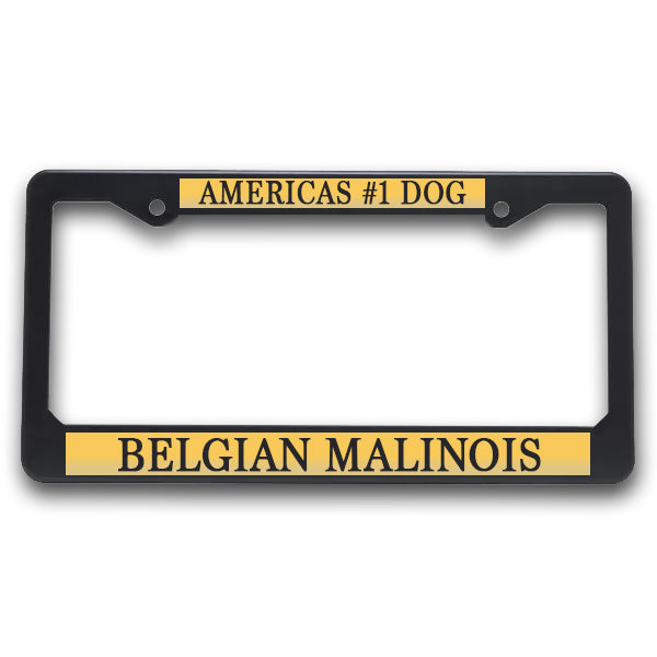 K9 License Plate Frame| Americas #1 Dog -Belgian Malinois