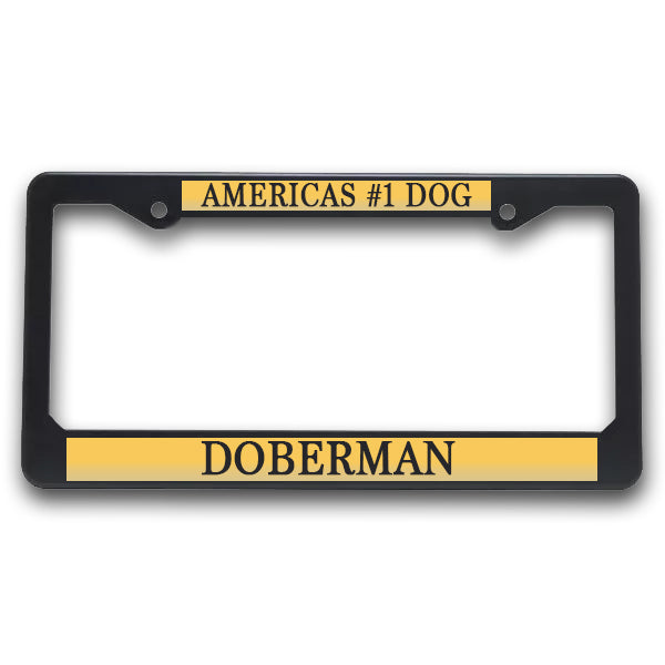 K9 License Plate Frame| Americas #1 Dog -Doberman