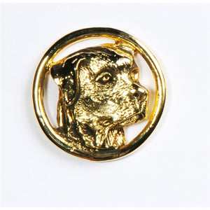 Rottweiler Head Circle Pin