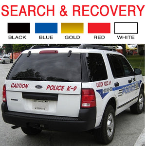 Search & Recovery | Vinyl Vehicle Decal