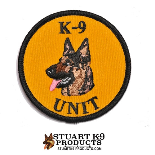 K-9 Unit German Shepherd Round Head Patch | Left Facing