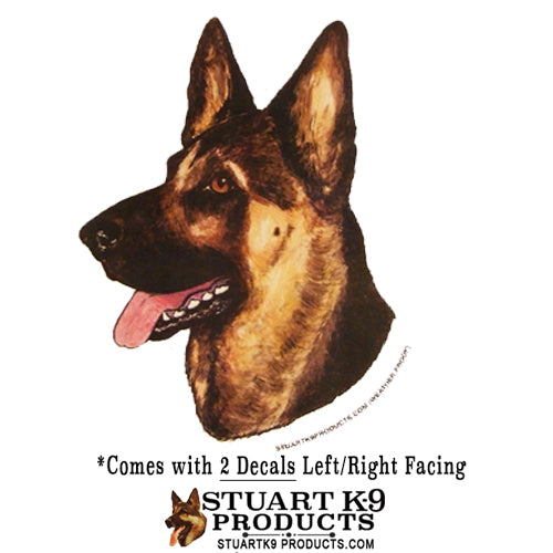 German Shepherd Head  | Pair
