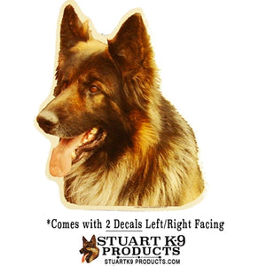 German Shepherd Head (Long Coat)| Pair