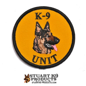 K-9 Unit German Shepherd Round Head Patch | Right Facing #1