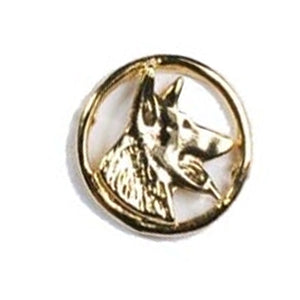German Sheperd Side View Head Circle Pin