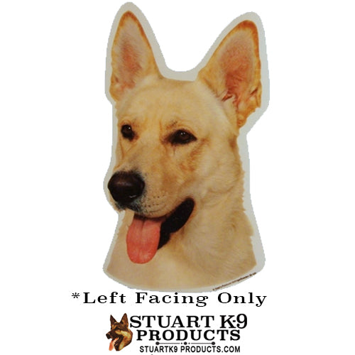 German Shepherd Head (White) | Pair