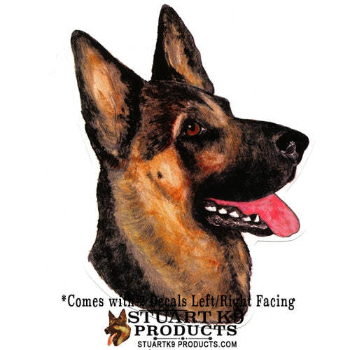 German Shepherd Head  | Weather Resistant | Pair