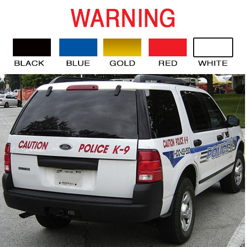 Warning | Vinyl Vehicle Decal