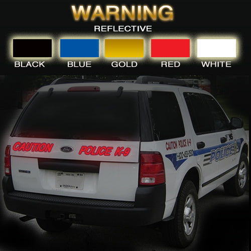 Warning | Reflective Vinyl Vehicle Decal